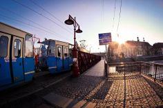 Most Piaskowy w stronę pl.Nankiera Most, Poland, Train, Night, City, World, Cities, The World, Strollers