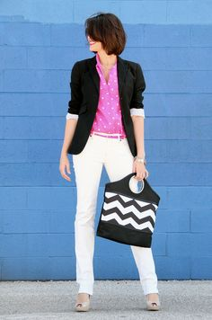 How to Wear White Jeans, How to Wear neon pink, What I Wore, WhatIWore, What I Wore Today, Jessica Quirk, Scrabble Necklace, What shoes to wear with white jeans, chevron tote, Cute Kodak Gallery ideas, style blog, Fashion Blog on Tumblr,