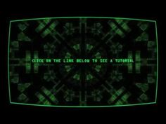 Old screen digital interface effect like in Fallout 4 pip-boy - YouTube