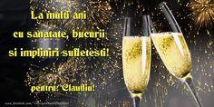 La mulți ani și multă sănătate Claudiu! - Felicitari de la multi ani pentru Claudiu - mesajeurarifelicitari.com Happy New Year Photo, Happy New Year 2018, An Nou Fericit, Alcohol Quotes, Food Cartoon, New Year Photos, Smoothie Recipes, Diy And Crafts, Alcoholic Drinks