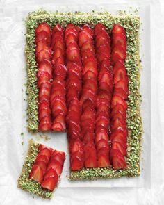 Spring Dessert Recipes // Strawberry-Pistachio Tart Recipe