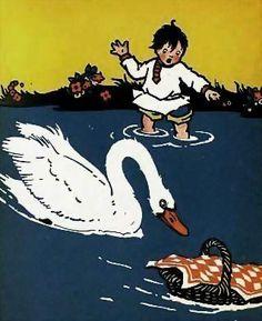 1924 1st Ed 'The Poppy Seed Cakes' Russian Folk Tales - Maud & Miska
