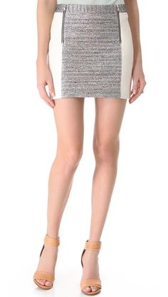 color block and zipper: Club Monaco Lucette Skirt