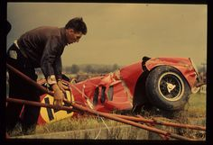 Tommy Hitchcock - Ferrari 250 GTO - Prince Zourab Tchkotoua - News of The World sponsor the R. Tourist Trophy Race - 1963 World Sportscar Championship, round 16 F1 Crash, Old Race Cars, Ferrari Car, Sports Car Racing, Gto, Courses, Cars And Motorcycles, Monster Trucks, Old Things