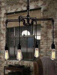 Industrial 4-light Vintage In Iron Shade Pendan... – CAD $ 272.76