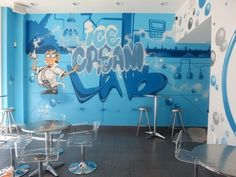 Man One mural at Ice Cream Lab in Beverly Hills