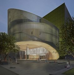 The library design by Kerry Hill Architects has won the tender for Perth's fir… - Architecture Library Architecture, Parametric Architecture, Education Architecture, Concept Architecture, Facade Architecture, Amazing Architecture, Contemporary Architecture, Cultural Architecture, Building Facade