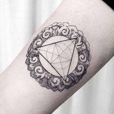 Geometric ornament arm tattoo by dogma_noir