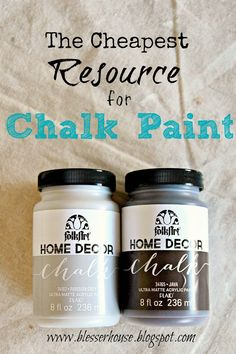 This chalk paint is 80% cheaper than some of the others, and the results are still gorgeous!