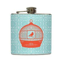 Born To Fly - Liquid Courage Flasks - 6 oz. Stainless Steel Flask. Available at OurPamperedHome.com