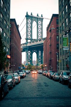 View of the Manhattan Bridge from DUMBO (Down Under the Manhattan Bridge Overpass)