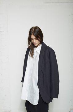 Isabel Marant / Maeva Oversized Blazer  La Garçonne Moderne / Drafting Shirt  Yohji Yamamoto / Layered Skirt Pants #lagarconneatelier