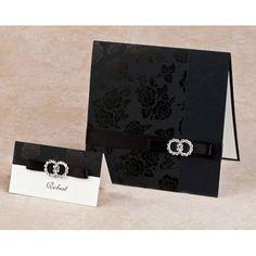 EA150 --- Black wedding ceremony card