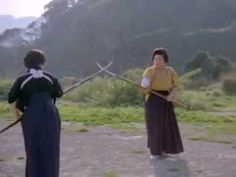 Japanese women practicing naginata-jutsu - the narrator can be obnoxious, but just watch the ladies practice