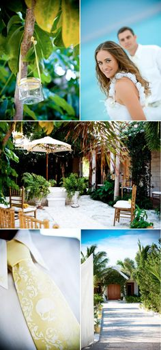 Style Me Pretty, The Brides Guide on Martha Stewart, Turks and Caicos Wedding, Styling by Stacie Steensland, www.staciesteensland.com, yellow, white, gold, Caribbean, courtyard, garden wedding