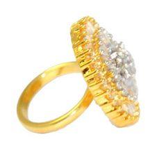 Buy Anjalika Golden Ring by Anjalika, on Paytm, Price: Rs.810?utm_medium=pintrest