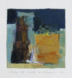 "July 14, 2018 9 cm x 9 cm (app. 4"" x 4"") oil on canvas © 2018 Hiroshi Matsumoto www.hiroshimatsumoto.com"