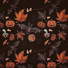 """Graphic from """"The Halloween Party"""" illustration by Retro Halloween, Spooky Halloween, Halloween Imagem, Halloween Tumblr, Spooky Scary, Holidays Halloween, Halloween Crafts, Happy Halloween, Halloween Decorations"""