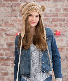 Teddy Love Hat. Teddy Love Hat Free Knitting Pattern from Red Heart Yarns 022db60434b4