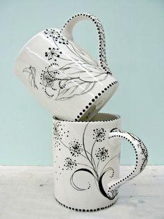 Hrníčky na kávu • ručně malovaný porcelán