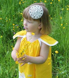 Elämää pohjolassa: Kesän kaunein mekko  Most beautiful yellow summerdress for a little girl