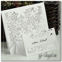 goja: Ażurowe zaproszenia ślubne