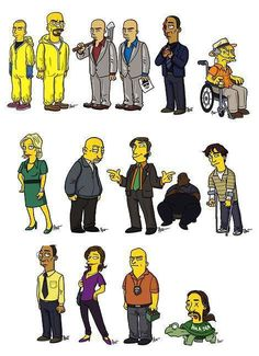 Breaking bad should be animated by the simpsons! ha.