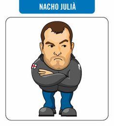 Caricatura de Nacho Juilà. Activista perico.