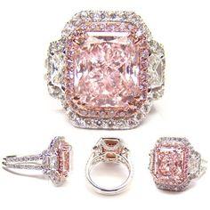 4.03ct fancy light pink (Flawless) diamond ring