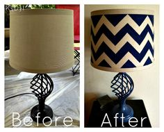 Days of Chalk and Chocolate: Chevron Lamp Makeover: Katie {Did} It