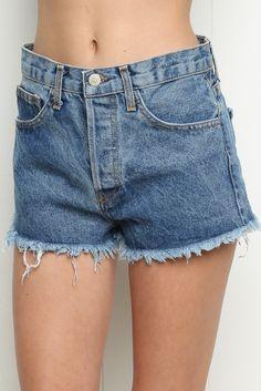 Brandy ♥ Melville | High-Rise Denim Shorts - Shorts - Bottoms - Clothing, $38