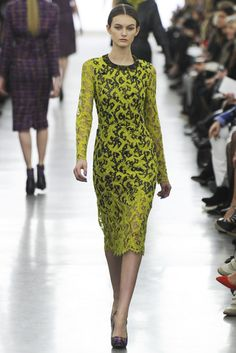 Chartreuse and black. Erdem RTW Fall 2012 - London (Photo: Giovanni Giannoni)