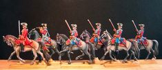Les Mousquetaires Noirs (2e Compagnie) de la Maison du Roi, époque Louis XV. Figurines SEGOM (peinture André Jouineau). Si vous êtes passionné par le sujet, découvrez sur le site de Jean Barrière-SEGOM les autres unités de la Maison du Roi : http://www.figurines-soldats.com/index.html