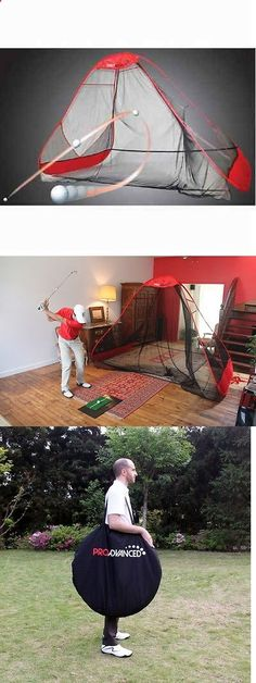 Nets Cages and Mats 50876: Pro Advanced Return Golf Net Practice Training Backyard Garage Home Sports Rusk BUY IT NOW ONLY: $148.87