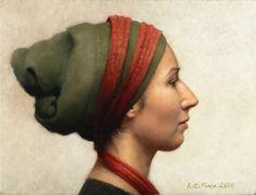 Louise Camille Fenne, Danish painter (b.1972). 'Profile Portrait of a Woman' (c.2006) Oil on Canvas