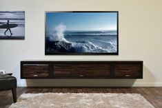Wall Mounted Entertainment Center Media Console - ECO GEO Espresso