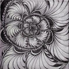 Sisters in Art: Zentangle - Phicops spiral