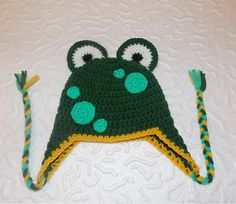 SALE-Crochet frog hat-Mr Frog Crocheted Hat - Photo months-Ready to ship-photo prop Crochet Frog, Crochet Hats, Unique Crochet, Newborn Photo Props, Mittens, Baby Shower Gifts, Crochet Patterns, Etsy Seller, Children