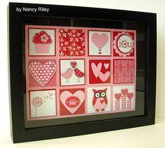 i STAMP by Nancy Riley: VALENTINE SHADOW BOX COLLAGE