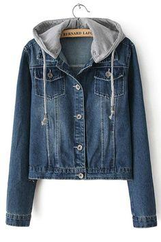 fbb86077f1930 Classical Hooded Denim Jacket - OASAP.com