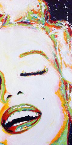 "Steve Gamba; Acrylic, 2013, Painting ""Miss Marilyn"" https://www.facebook.com/IloveARTARTART?ref=stream_target_id=0"