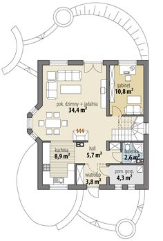 Gwiazdka III Floor Plans, House, Design, Plants, Projects, Home, Homes, Floor Plan Drawing
