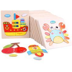 Růžné motivy, dřevěné 3D puzzle, cena cca 35 Kč včetně dopravy #hračky #tvoření #děti #rodina #3dmámablog.cz #aliexpress