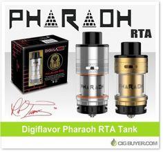 Digiflavor Pharaoh RTA Tank – $24.00: http://www.cigbuyer.com/digiflavor-pharaoh-rta-tank-by-rip-trippers/ #ecigs #vaping #digiflavor #pharaohRTA #riptrippers #vapelife #vapedeals