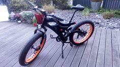 MTB Ebike Fatwheel Pedelec Vollgefedert, fully E-MTB Fat tyres 500W , 48V