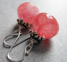 Seedless Watermelon earrings by Sueanne Shirzay on Etsy, $40.00