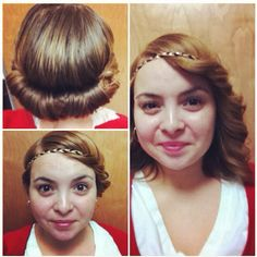 Put headband over your hair (while is wet) tuck in the hair all around. It curls your hair. You can either leave it in the headband or wear it down and look like you spent time you really didn't. #LowMaintenance