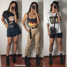 10 Catchy Summer Outfits Ideas To Ideas Skater Girl Outfits, Cute Dress Outfits, Cute Casual Outfits, Retro Outfits, Stylish Outfits, Cute Dresses, Vintage Outfits, Cute Grunge Outfits, Egirl Fashion