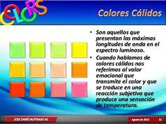 Cromoterapia  Colores calidos
