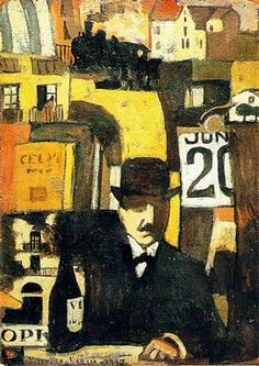 Joaquin Torres i García - figura com paisagem urbana, 1917
